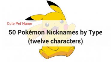 Pokemon character - pokemon nickname