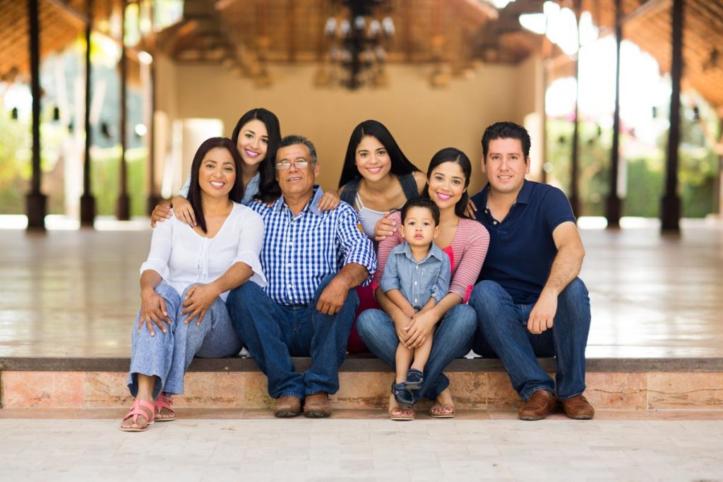 photo of a modern mexican family