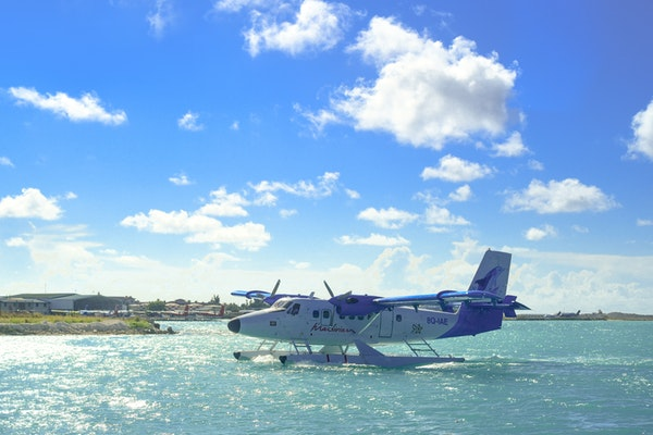 seaplane on the seas
