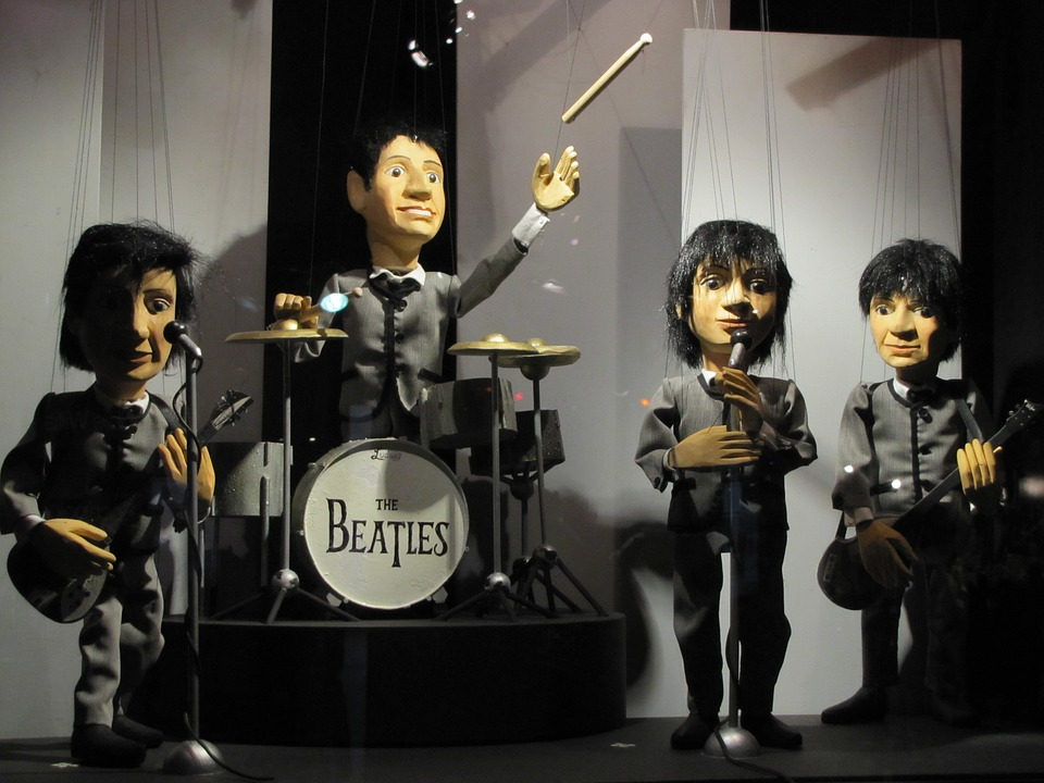 the beatles puppets in puppet theater