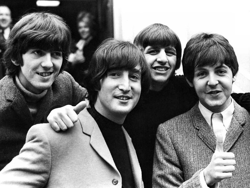 the beatles wearing coats